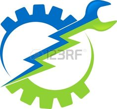 Photo About Illustration Art Of A Power Tool Logo With Isolated Background
