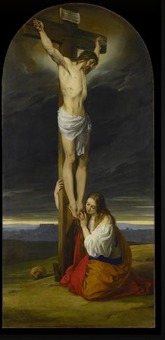 Francesco Hayez, Crucifixion with Mary Magdalene Kneeling and Weeping, 1827 | Museo Diocesano Milano