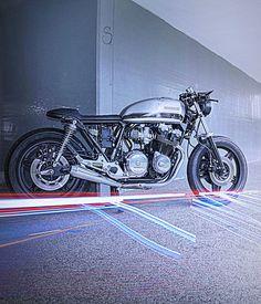 Honda CB 750 Cafe Racer by Davide Crosato (Gitano)  #motorcycles #caferacer #motos | caferacerpasion.com Cb 750 Cafe Racer, Modern Cafe Racer, Cafe Racer Honda, Cafe Racer Style, Cafe Racer Motorcycle, Ducati, Yamaha, Moto Cafe, Cafe Bike
