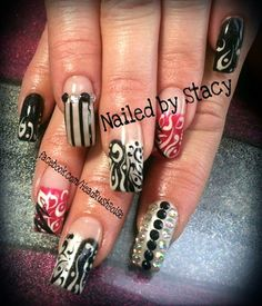 Throw Back Thursday!  by NailedByStacy - Nail Art Gallery nailartgallery.nailsmag.com by Nails Magazine www.nailsmag.com #nailart