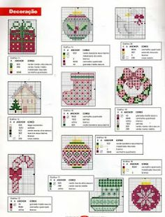 100%_ponto_cruz - mini cross stitch patterns