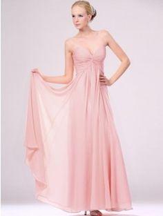 A-line Ankle-length Sweetheart Ruffles Sleeveless Chiffon Bridesmaid Dresses