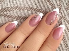 Gently And Elegantly - Newest Ideas of French Manicure! - Gently And Elegantly - Newest Ideas of French Manicure! French Nail Art, French Nail Designs, Nail Art Designs, Acrylic Nail Designs, Classy Nails, Stylish Nails, Cute Nails, Pretty Nails, Bride Nails