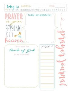 Prayer Journal Printable For Keeping Track Of Your Blessings And Answers To Prayers