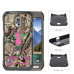 Girl Hunt Too Pink Deer Arrow Camo Oak Tree Hard Case Samsung Galaxy S5 Active