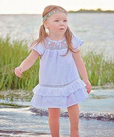 White Paloma Ibiza Angel-Sleeve Dress - Infant, Toddler & Girls
