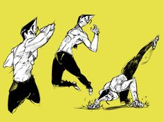 #practice #drawingpractice #anatomydrawing #draw #sketch #digitalsketch #characterdesing #pose #martialarts #jumping #fighting #fightingpose #kick #speedline #yellow #yelloweyes #pointedhair #medibangpaint Sketch Poses, Drawing Poses, Drawing Practice, Drawing Tips, Anatomy Drawing, Body Drawing, Dynamic Poses, Action Poses, Character Poses