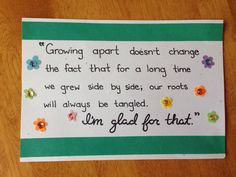 Growing Apart Quote on Etsy, $6.50