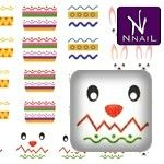 N.NAIL Easter Rabbit Easter Eggs Water Decals Nail Art-WDHHK150