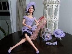 Barbie Crochet Miniaturas Artesanato e Coisas Mais de Tudo Um Pouco e Muito Mais: Roupas de Crochê Para Barbie Com Gráfico - Por Pecunia MillioM