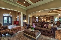 Extravagant design tuscan style living room with soft furniture ...