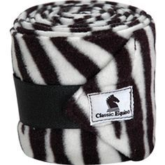 """Classic Equine Polo Wraps Polo wraps for protection and support from a name you know and trust. Made of 500 gram fleece and includes a laundry bag. 4.5"""" x 9' rolls. Package of 4."""