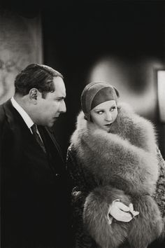 Brigitte Helm and Pierre Alcover in L'argent (Marcel L'Herbier, 1928)