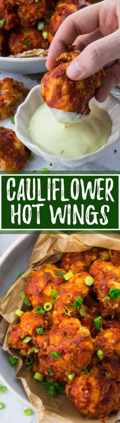 These vegan cauliflower hot wings are the perfect comfort food. They're so tangy & spicy! Such a delicious vegan recipe. I like them best with vegan aioli. Or fill them in pitas and you got an amazing vegan dinner! Big YUM!! <3 | veganheaven.org