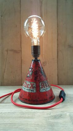 Industrial table lamp available on Etsy.