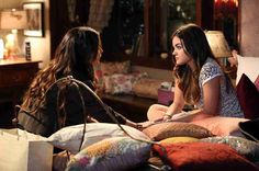 """Ella Montgomery (Holly Marie Combs) is back from Europe in the latest episode of Pretty Little Liars, and she's looking for Aria (Lucy Hale) to be the maid of honor at her upcoming nuptials. Sounds great, right? If only Aria didn't have about a million-and-a-half other things on her plate. Check out this sneak peek from Season 5, Episode 8 (""""Scream For Me"""")."""