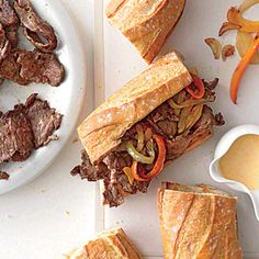 Short Rib Cheesesteak Sandwiches - not bad....used jimmy John bread again.  Will use less mustard in sauce next time