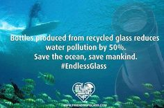 #DYK that the packaging we choose impacts our environment? Glass recycling reduces pollution and helps to save our oceans