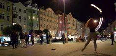 Innsbruck by night: Maria Theresien Street Innsbruck, Austria, Street View, Night