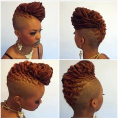 DOPE! Updo, locs and shaved hair. #naturalhair