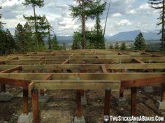 Yurt Deck Framing Complete — How to build a yurt deck! #yurtlife, #montana, #offthegrid http://wp.me/p38bGa-1Fq