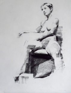 Mark Tennant - 38 Artworks, Bio & Shows on Artsy Life Drawing, Figure Drawing, White Charcoal, Pencil Art, Contemporary Paintings, Art Sketches, Anatomy, Artsy, Statue