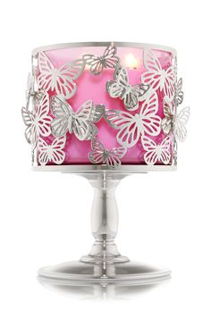 Butterfly Pedestal 3-Wick Candle Sleeve - Home Fragrance 1037181 - Bath & Body Works