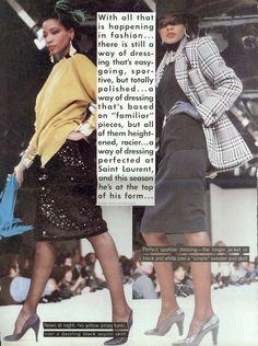 The Gloss Menagerie ca. 80s Fashion, Fashion History, Womens Fashion, Yves Saint Laurent, Gabrielle Bonheur Chanel, Hollywood Costume, Princess Caroline, Editorial Fashion, Sequin Skirt