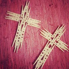 Completed my clothespin crosses
