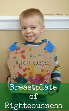 {The Armor of God Series} Breastplate of Righteousness - Play Eat Grow