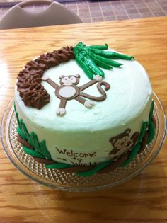Jungle baby shower cake for my nephew from Laidback Cakes