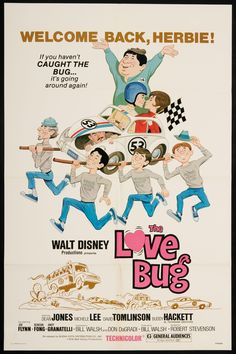 Herbie. The Love Bug disney movie poster