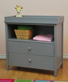AFG Baby Furniture Gray Amber Changing Table