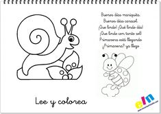 Lee y colorea poemas de la primavera Crafts For 2 Year Olds, Activities, Comics, Blog, Kids, Appliques, Google, Frozen, Christian