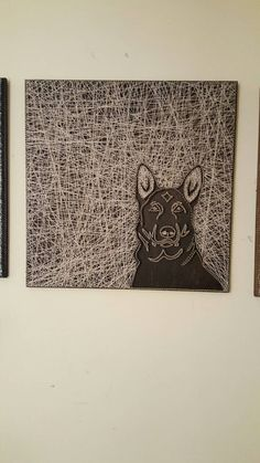 German Shepherd Face String Art by PawtiqueCollars on Etsy Art Pieces, Art Design, Dots Art, Art Drawings, Wood Art, Bohemian Art, German Shepherd Art, Pin Art, Art Hobbies