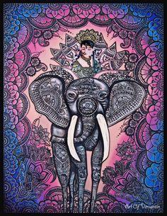Mumtaz's Spirit: 30x40 acrylic on canvas.