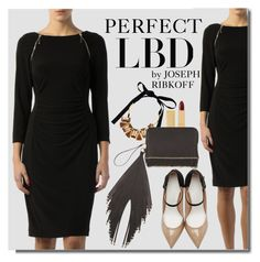 """""""Perfect Little Black Dress by Joseph Ribkoff"""" by premiereavenue-boutique ❤ liked on Polyvore featuring Joseph Ribkoff, Marni, Lipstick Queen, The Volon, Maison Margiela and country"""