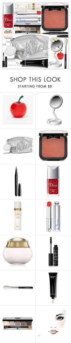 """""""Favorite things"""" by grozdana-v ❤ liked on Polyvore featuring beauty, Tony Moly, Victoria's Secret, NYX, Marc Jacobs, Christian Dior, NARS Cosmetics, Bobbi Brown Cosmetics and Marc by Marc Jacobs"""