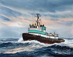 Tugboat Norman S Art Print by James Williamson