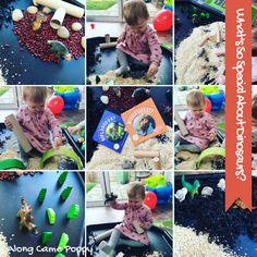 We had so much fun creating with our dinosaur small world. Check out our review of some super Dino books: Along Came Poppy: What's So Special About Dinosaurs?  #tuffspot #smallworld #preschoolplay #dinoplay #dinosaurs #nonfiction #dinobooks #kidsbooks