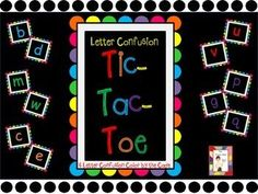 If you are a primary teacher, you have students who have letter confusions such as b and d.  This product can help with b/d, m/w, c/e, u/v and p/g/q confusions .  Simply print, cut out the letters, and laminate.Play tic-tac-toe with the letters instead of using Xs and Os.Variation:  Add magnets to the back of each letter.