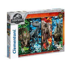 Clementoni - Supercolor Jurassic World Puzzle 104pc. - The Entertainer