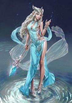 """theagar: """" (via ArtStation - Elven magician and Thief, seunghee lee) """" Fantasy Girl, Chica Fantasy, Fantasy Art Women, 3d Fantasy, Fantasy Images, Fantasy Armor, Fantasy Magician, Anime Sexy, Character Inspiration"""