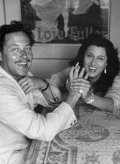 Anna Magnani with Tennessee Williams