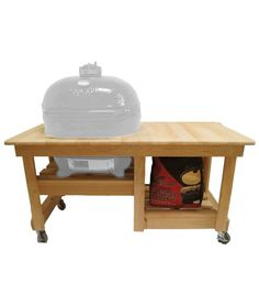 Primo Oval Junior Kamado Grill W/ Cypress Table Sq In)