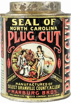 Plug Cut Tobacco Tin