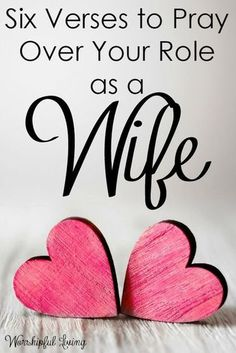 Bible Verses About Love:Our role as a wife is so important - and needs much prayer! Here are 6 verses you can add to your war room to pray over your role as a wife! by marian Marriage Prayer, Godly Marriage, Happy Marriage, Love And Marriage, Marriage Advice, Healthy Marriage, Fierce Marriage, Healthy Relationships, Marriage Devotional