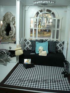 Bedroom in the Barbie house