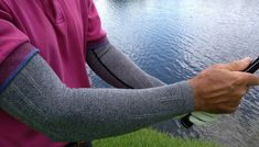 More golfers are starting to wear compression apparel such as arm, leg, elbow and knee sleeves.