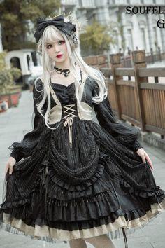 Greed Memoirs of Marmen OP by Souffle Song Pre-order Ends on Harajuku Mode, Harajuku Fashion, Kawaii Fashion, Cute Fashion, Fashion Outfits, Fashion Fashion, Retro Fashion, Vintage Fashion, Gothic Lolita Dress